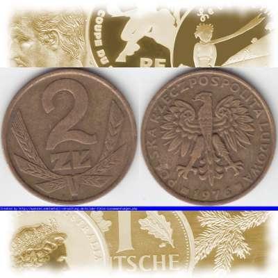 Embmv 2 Zt Zloty Münze Polen Polska Von 1975 1985 Wert