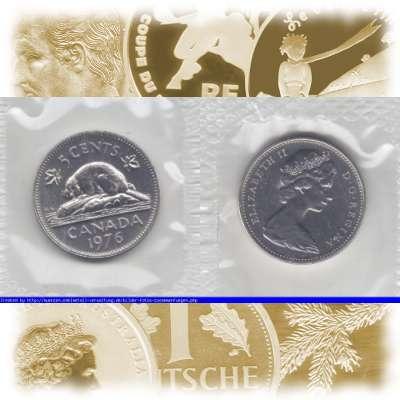 Embmv 5 Cents Von Kanada Canada 1965 1978 Wert Benennung